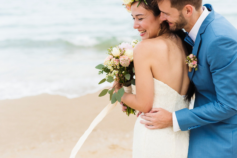 Beach sustainable custom wedding