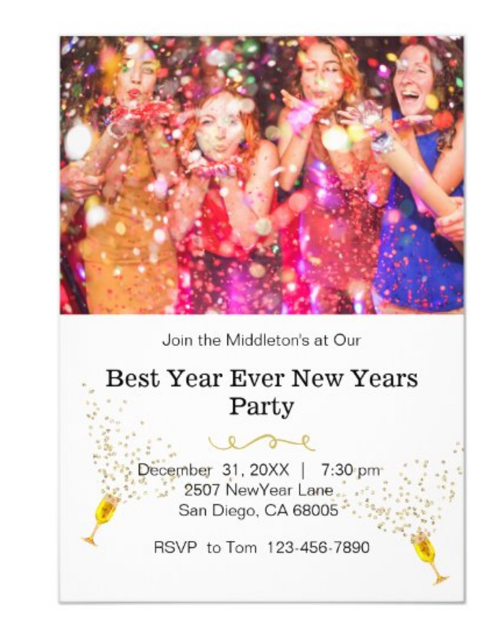 custom new years eve party invitations new years celebrations