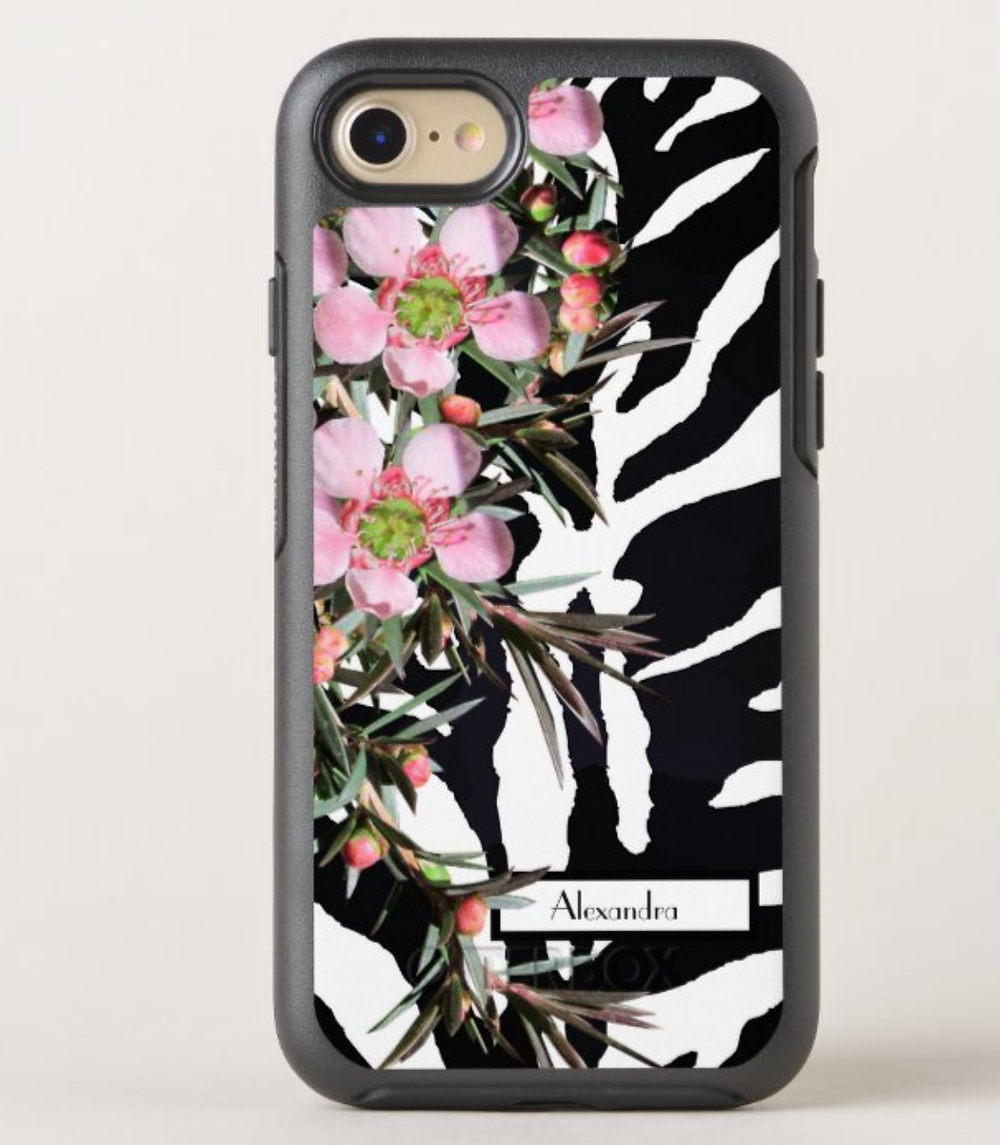 phone case zebra wildflower design personal custom iphone cover zazzle