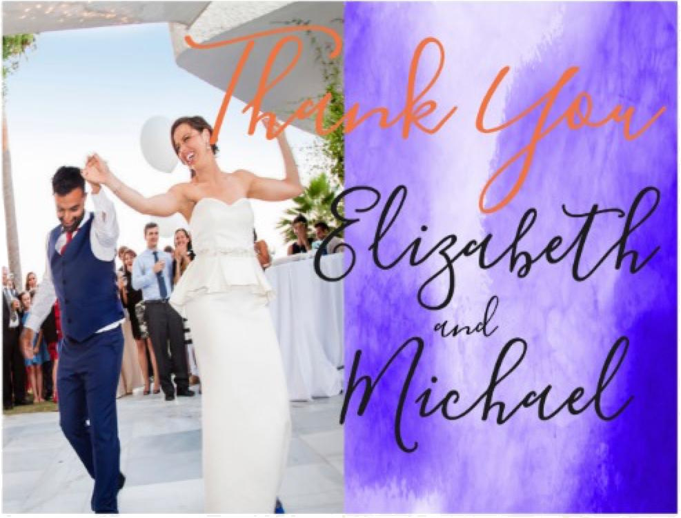 Ultra Violet and Orange Wedding Stationary