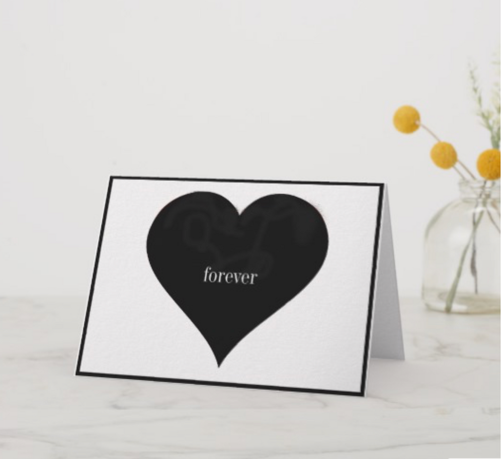 valentines day elegant simple heart forever custom personal card