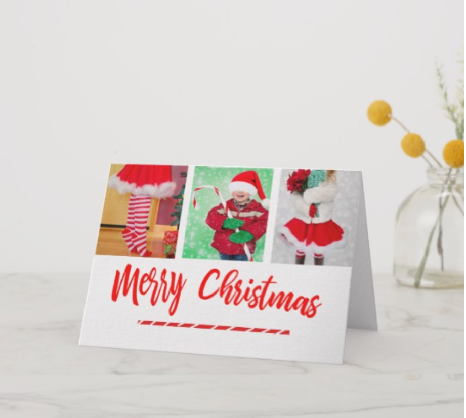 christmasfamily photo greeting card