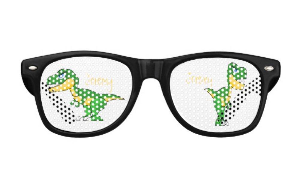 dinosaur theme custom party products fun  eye glasses zazzle made