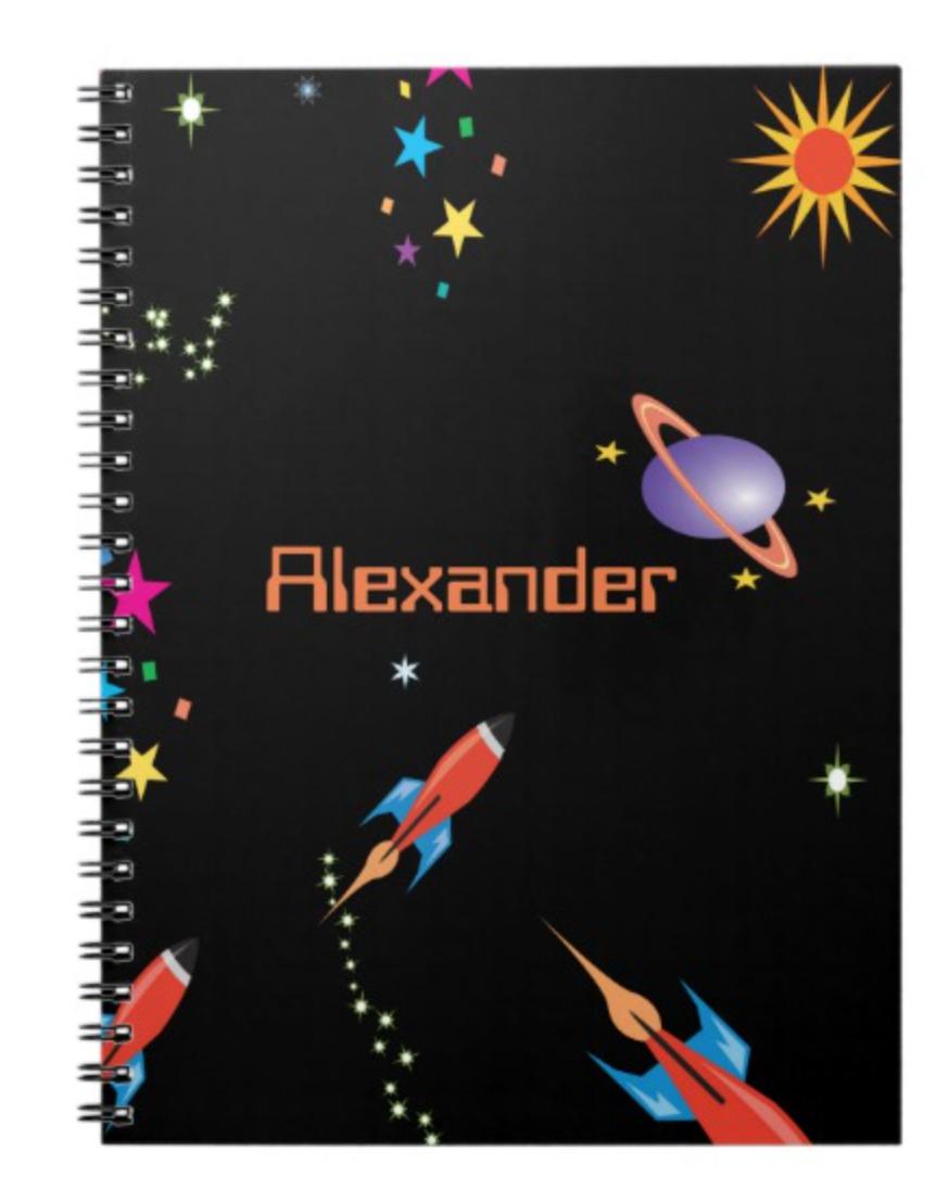 Space Rocket Boys School Personal Notebook