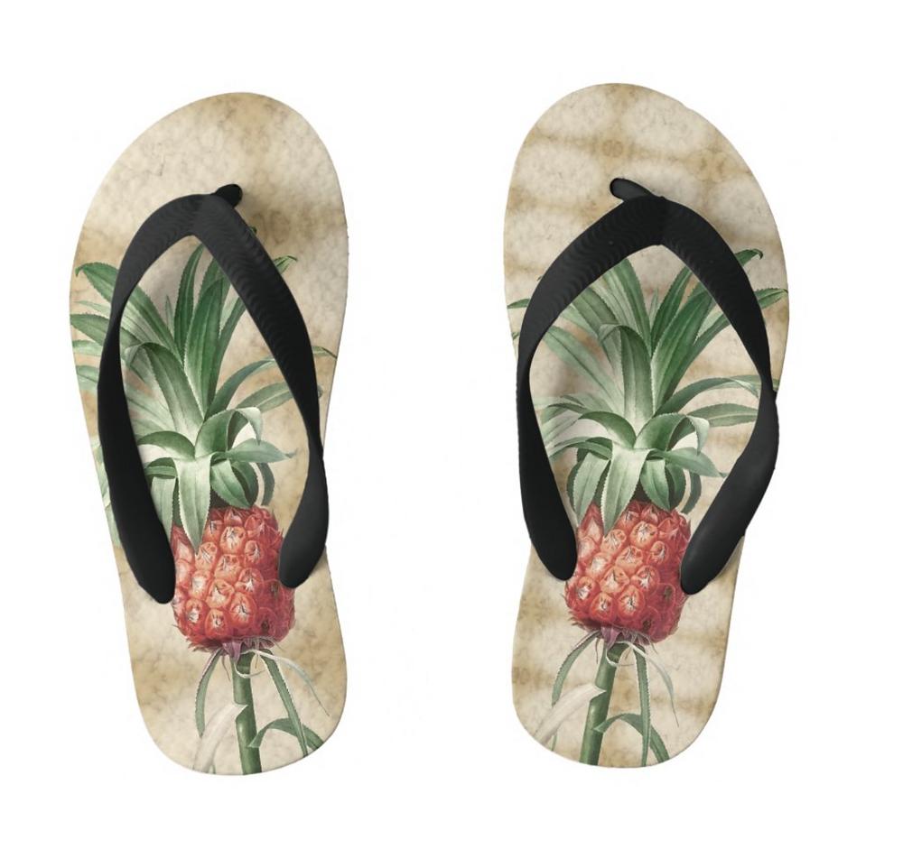 Kids Tropical fun summer Custom Gift flip flops