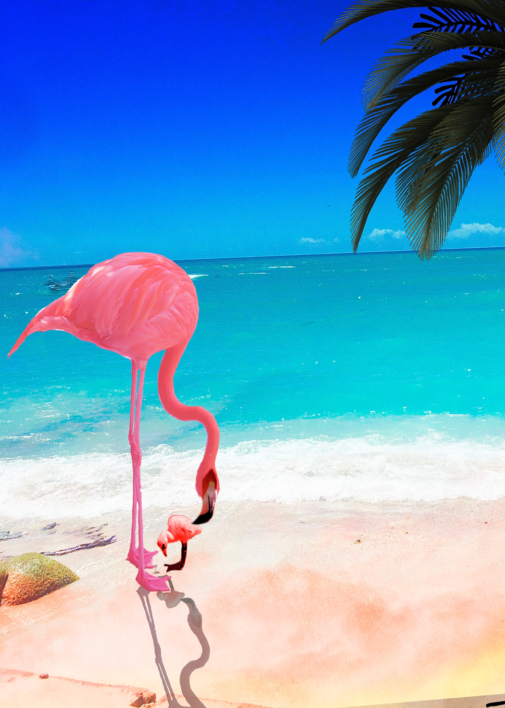 custom flamingo themed stationary and party accessories. zazzlemade