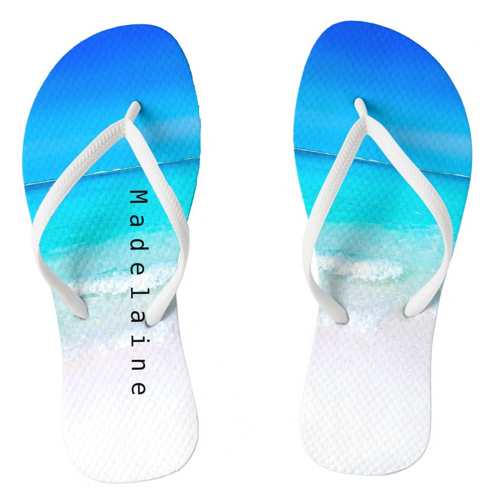 Summer Beach Travel custom personal flip flops custom gift