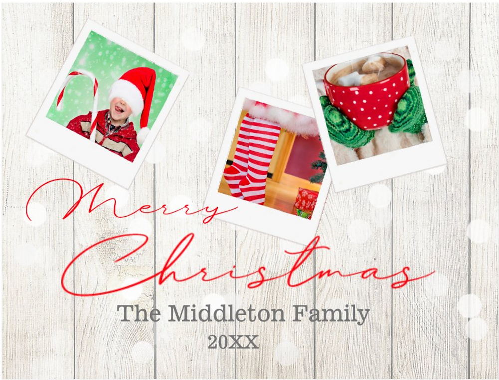 personal photo collage christmas merry christmas custom greeting postcard zazzle made