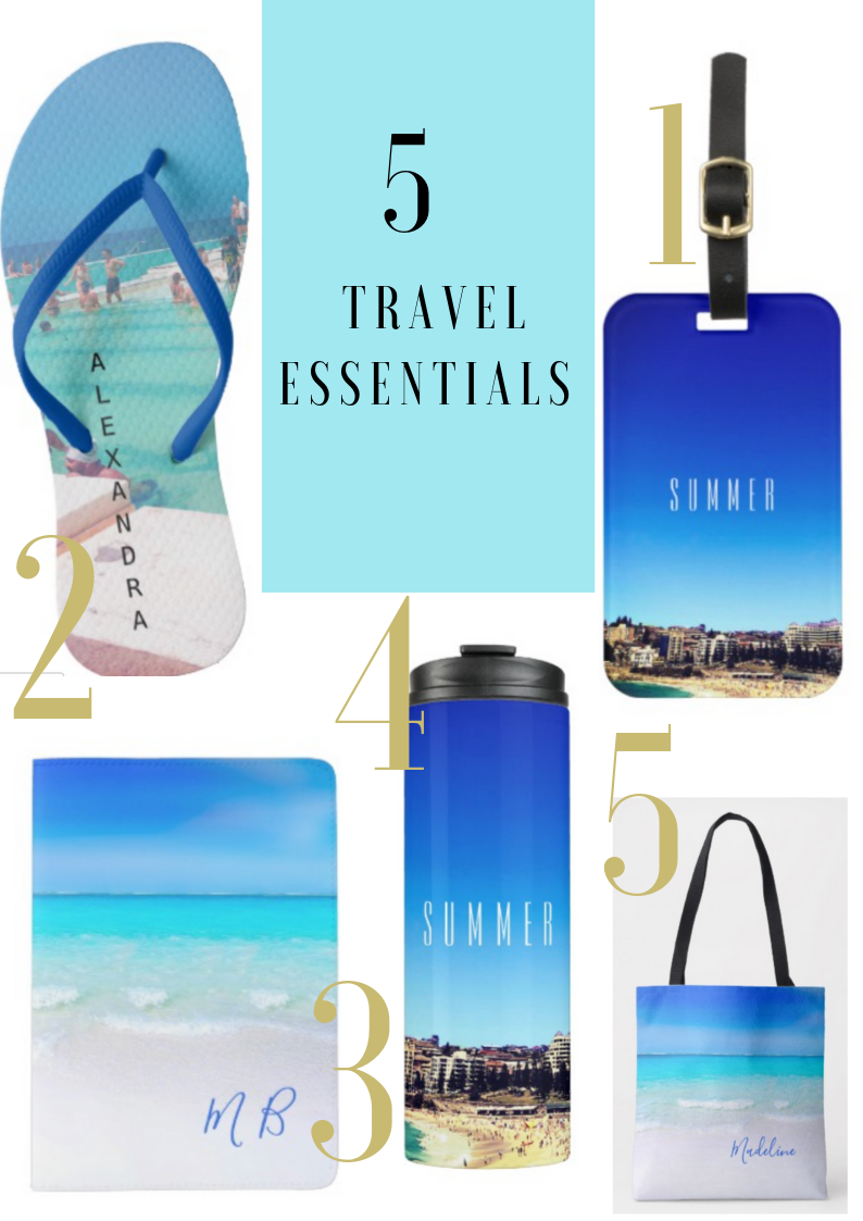 beach holiday travel essentials custom products personal gifts on zazzle