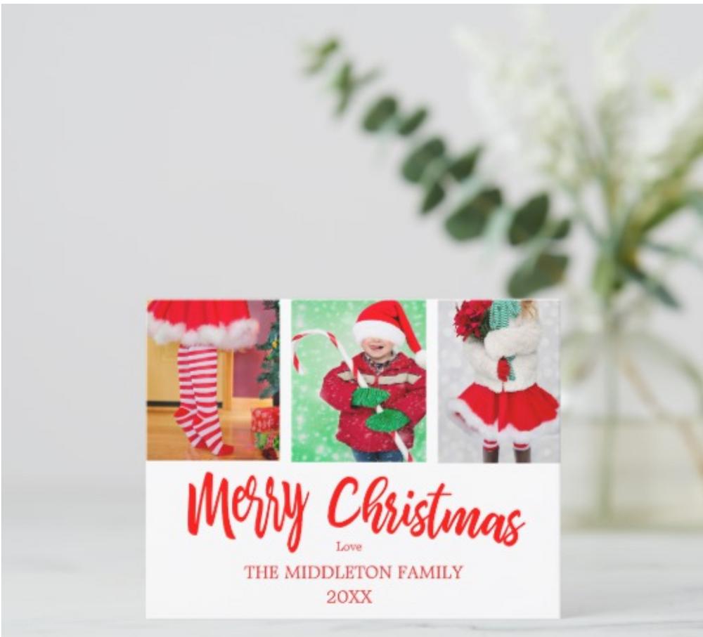 custom christmas cards christmas  photo collage merry christmas