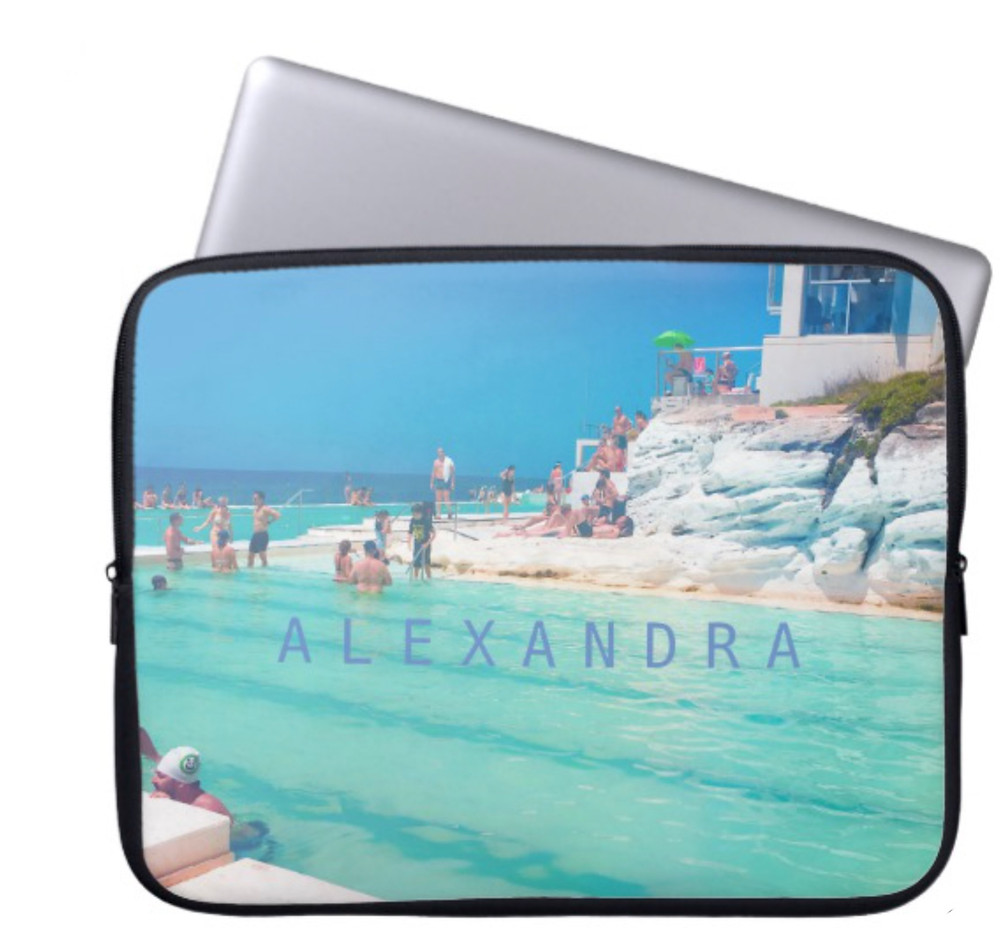 Beach Ocean Pool Blue Aqua Personal Computer Sleeve