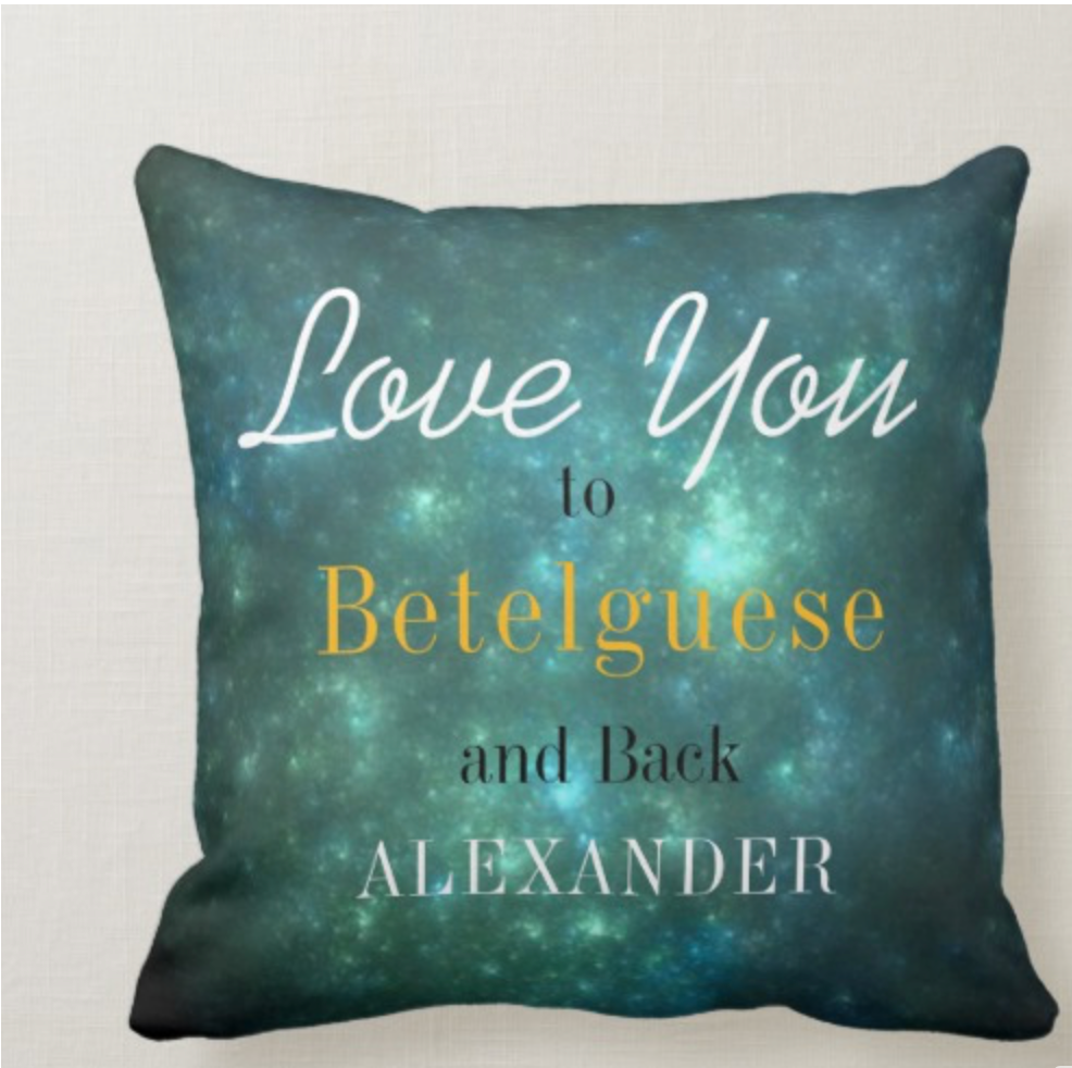 Valentine I Love You to the Moon and Back Throw Pillow