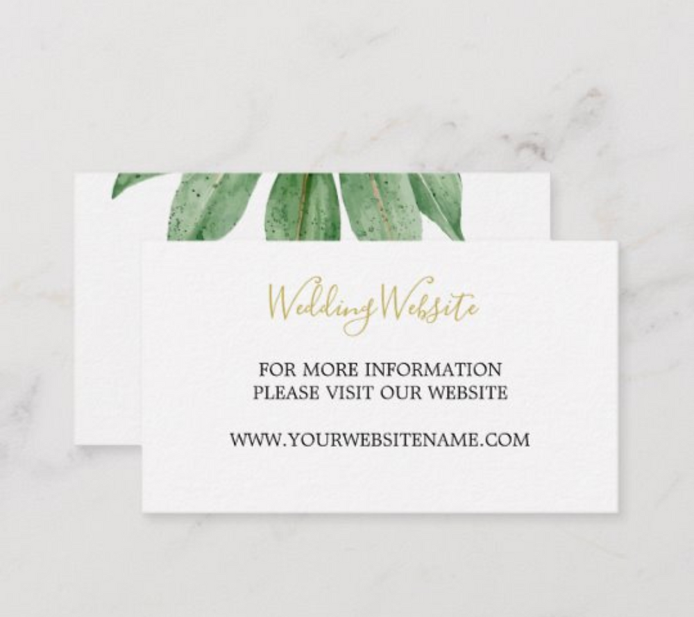 wedding custom business card website sustainable
