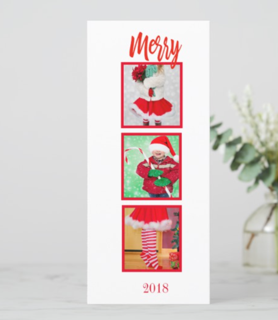 merry holiday greeting card