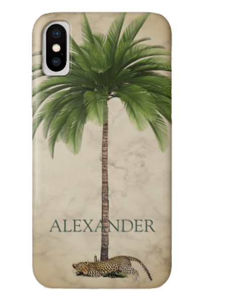 Peronal custom Palm treeleopard iphone  phone case .png