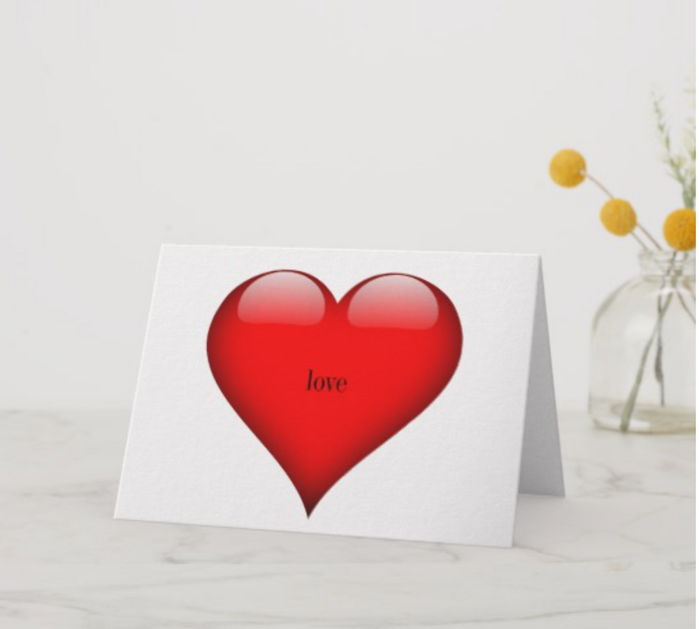 Valentine's Day Red Heart  Love Card