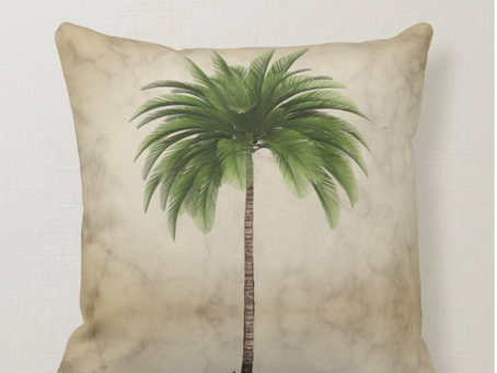 Palm Trees, Leopards and Men in outrageous, tropical shirts. Custom Home décor.