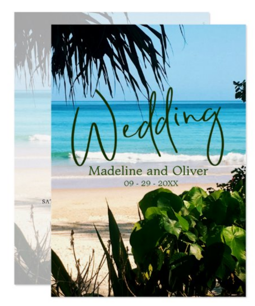 beach wedding sustainable destination outside wedding