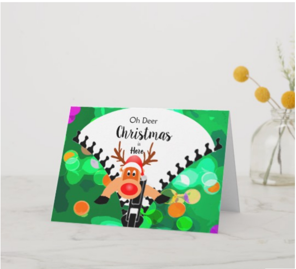 christmas reindeer custom cards and products funny zazzle