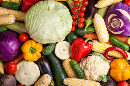 Vegetables background. Healthy eating di