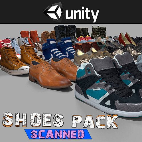 Shoes Pack (Scanned) for Unity