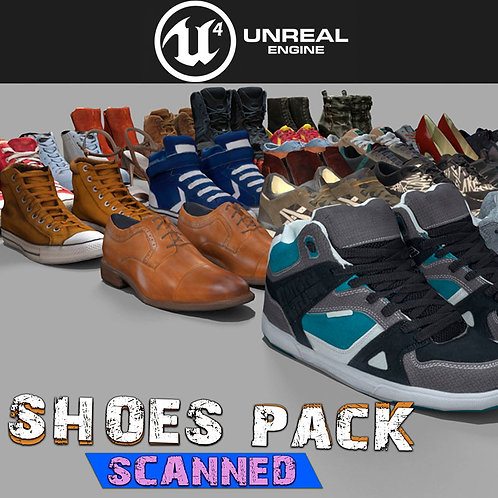 Shoes Pack (Scanned) for UE4