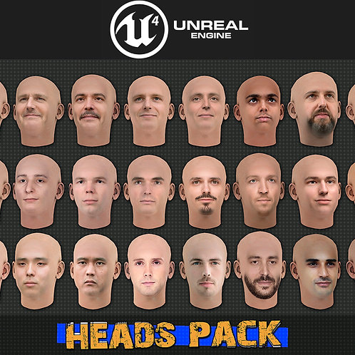 Heads Pack for UE4