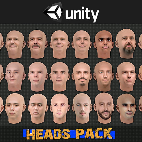 Heads Pack for Unity