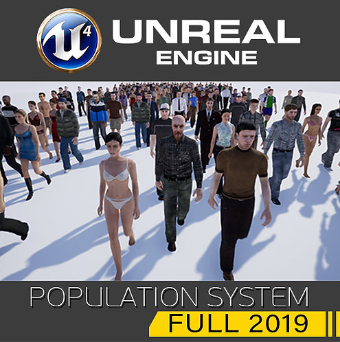 Population System FULL 2019 (for UE4)