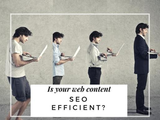 Is Your Web Content SEO Efficient?
