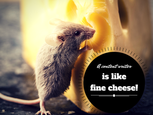 A Content Writer is Like Fine Cheese!
