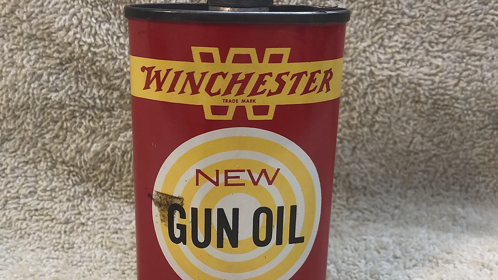 """3 1/2"""" empty Winchester oil can"""