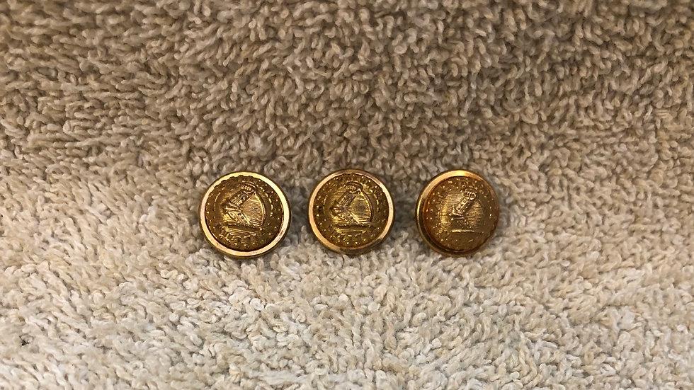 3 Massachusetts cuff buttons