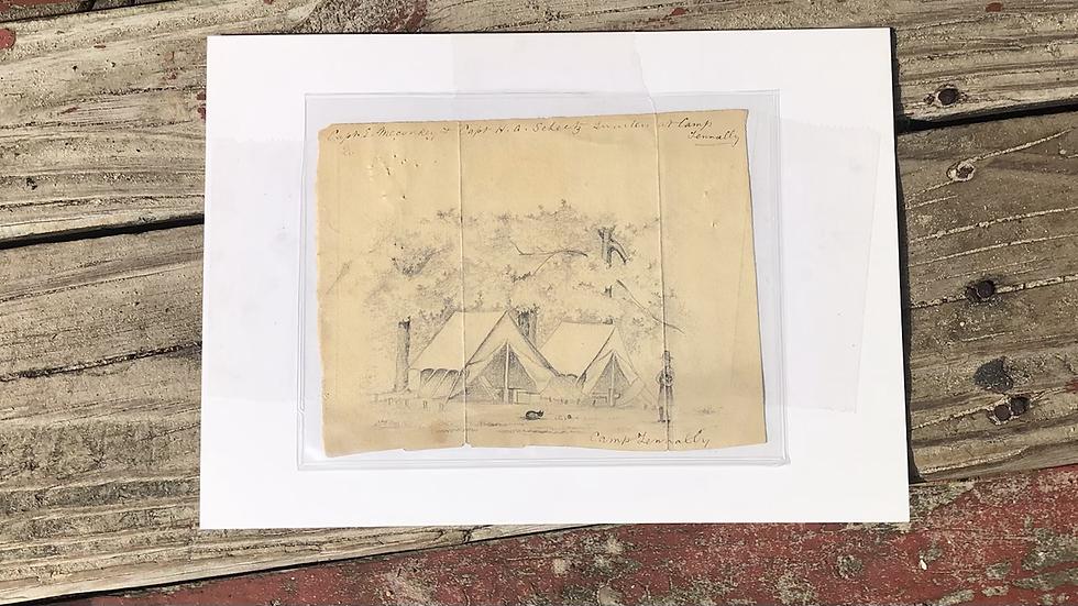 Original 1861 1862 drawing of camp Tennally