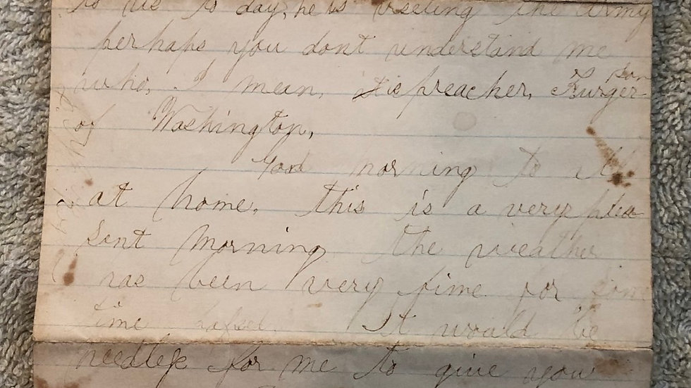 1863 Brandy Station Letter about Butternuts from orange and Alexandria RR