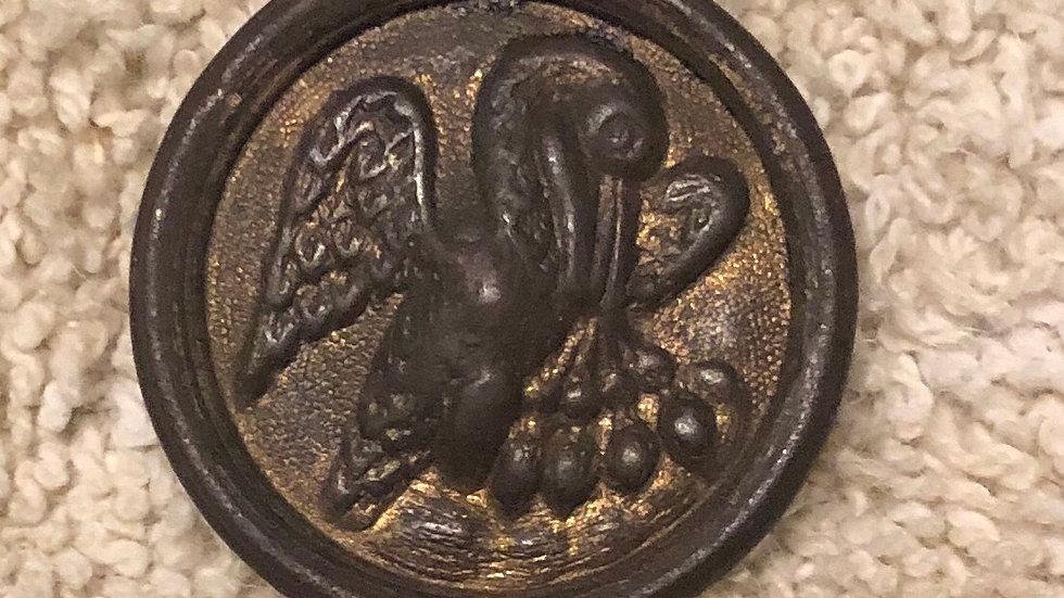 Super rare non-dug Louisiana local coat button
