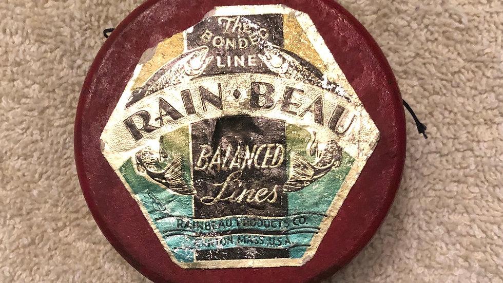 "Rain-Beau wooden spool of fishing line   2 1/2 x 1 1/4"""