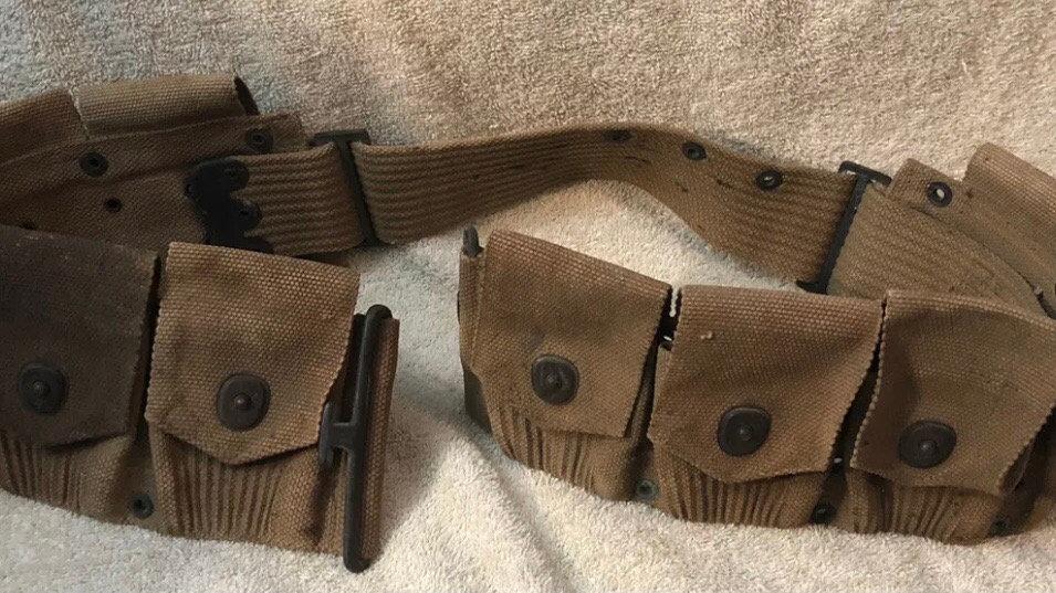 WW1 BAR ammo belt Mills 1918