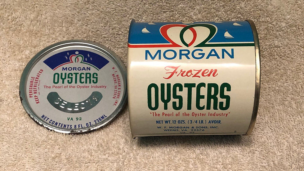 12 ounce Morgan oyster can with lid