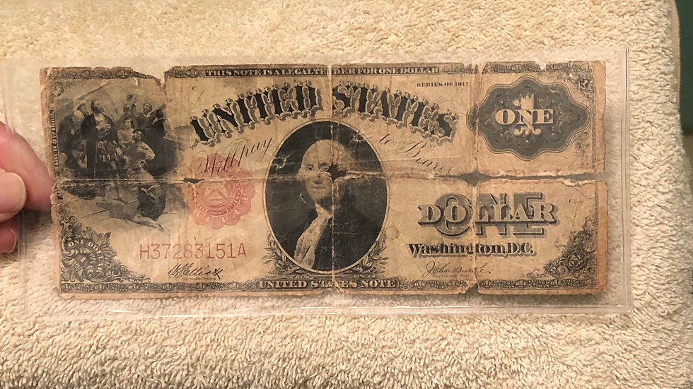 1917 $1 note