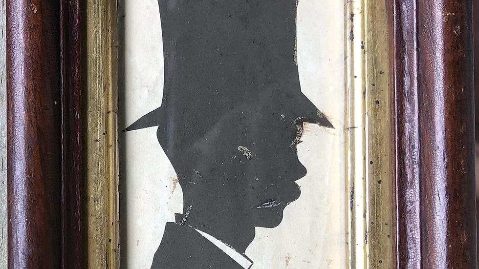Early silhouette of Col. William Bullitt Fitzhugh from Virginia