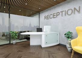 Reception Desk Finished in Premium White Laminate