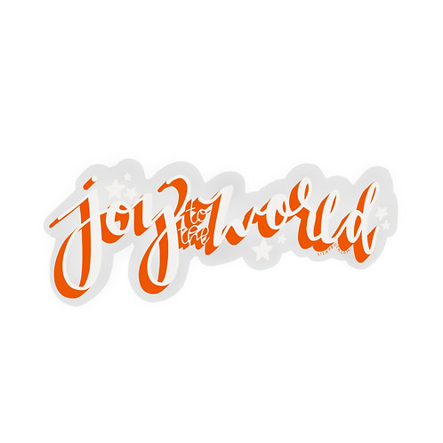 Joy To The World Vinyl Sticker