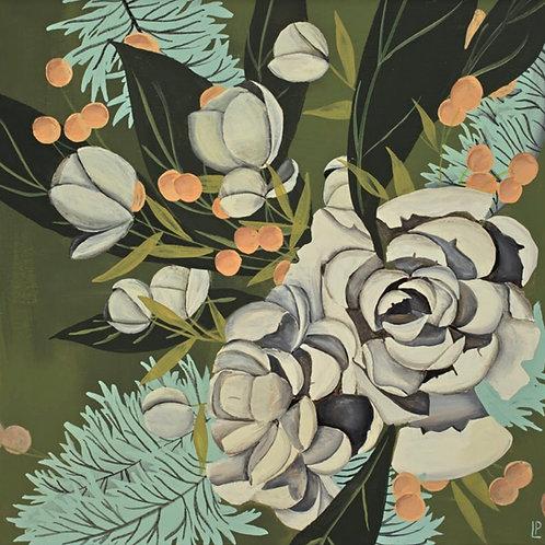 Green Forest Garden Print on Canvas