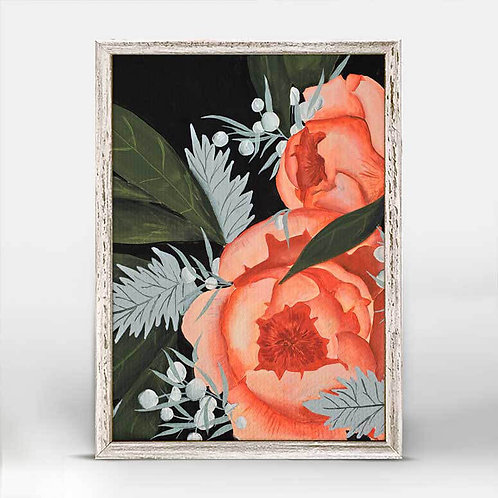Peony in Pink Mini Framed Canvas