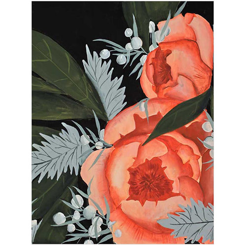 Peony in Pink Print on Canvas