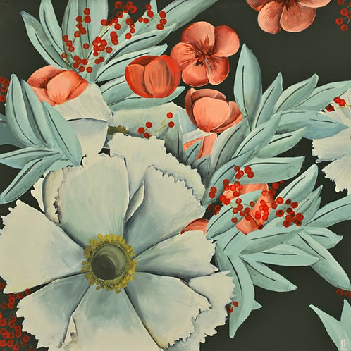 Vintage Cosmos Print on Canvas