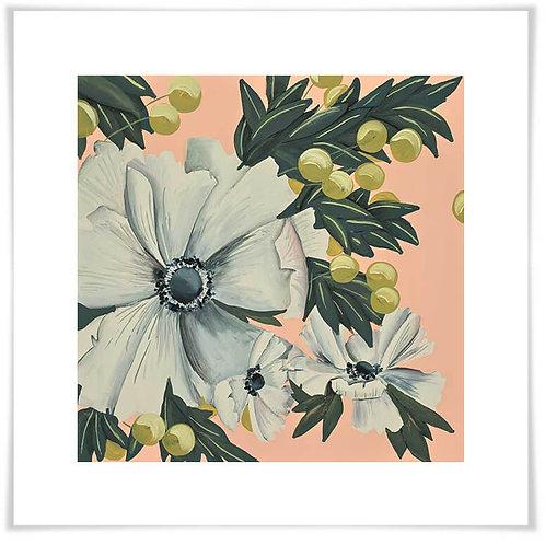 White Cosmos Art Print
