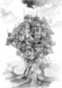 illustration noir et blanc Sylvestre