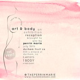 ART & BODY INVITE